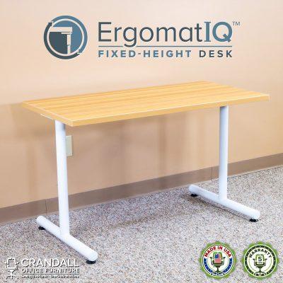 ErgomatIQ Fixed Height Desk with T Style Leg 01