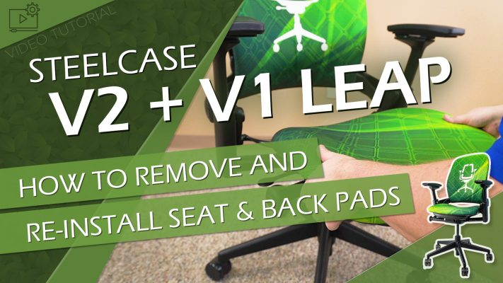 How to Remove & Re-Install the Seat & Back Pads on Your Steelcase Leap Chair