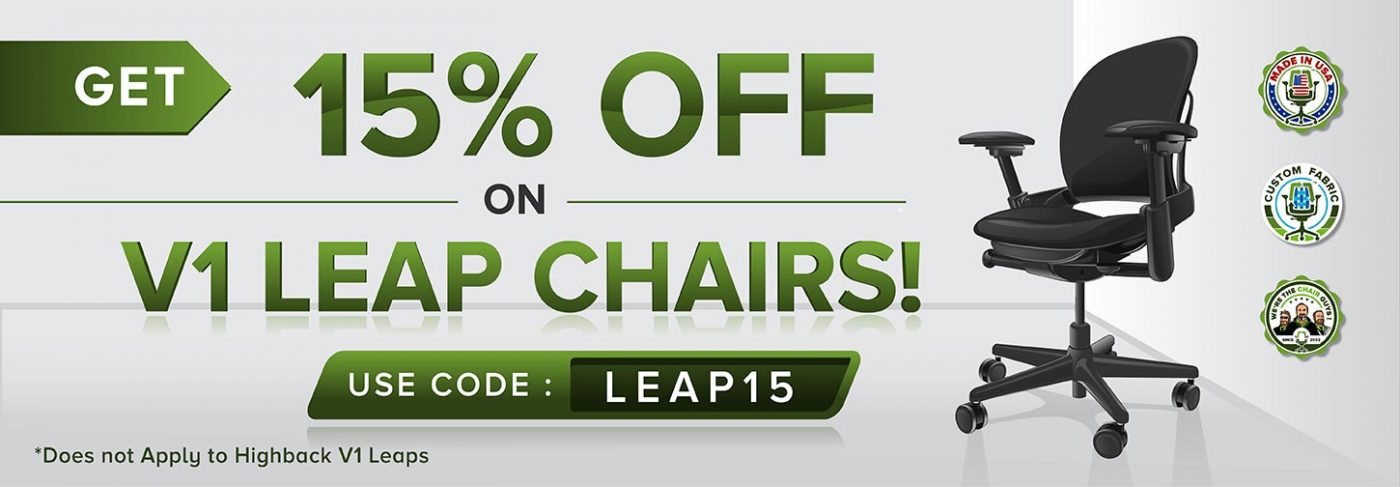 15% Off Steelcase V1 Leap Chairs