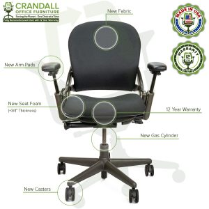 Remanufactured Steelcase 462 V1 Leap Chair with Midnight Frame 002