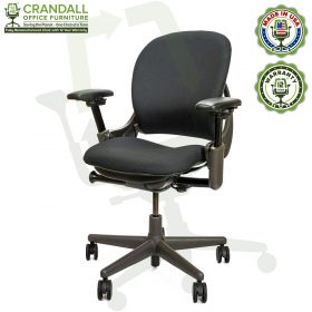 Remanufactured Steelcase 462 V1 Leap Chair with Midnight Frame 003