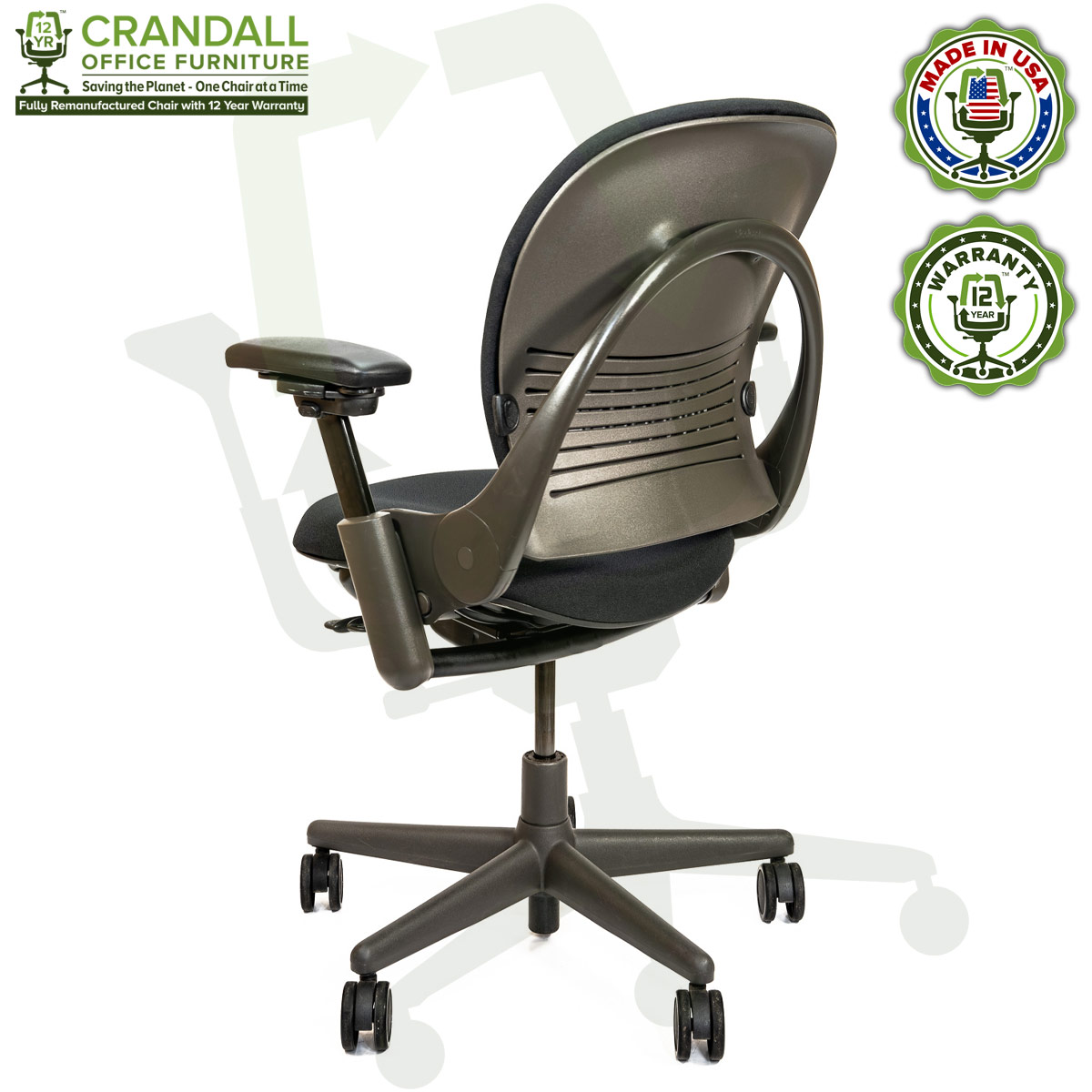 Remanufactured Steelcase 462 V1 Leap Chair with Midnight Frame 005