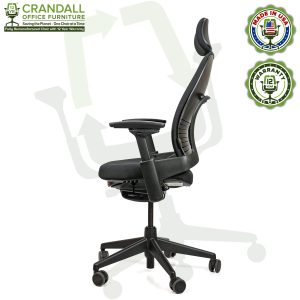 Crandall Office Furniture Remanufactured Steelcase V2 Leap Chair with Headrest 03
