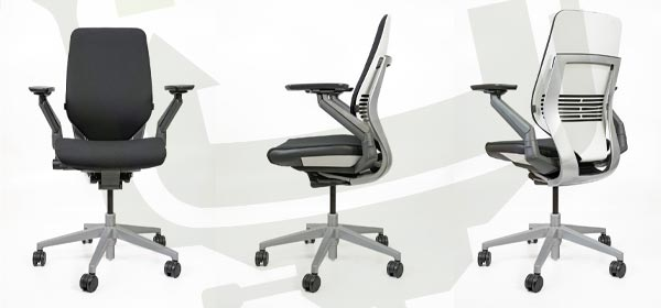 Steelcase Gesture Chair Angles - Platinum / Seagull Frame