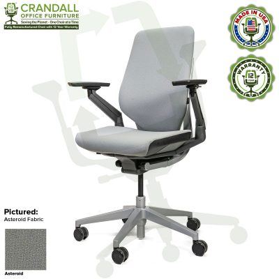 Crandall Office Furniture Remanufactured Steelcase Gesture Chair - Guilford of Maine Open House Asteroid Fabric
