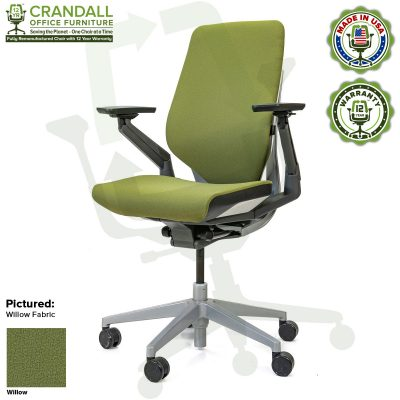Crandall Office Furniture Remanufactured Steelcase Gesture Chair - Guilford of Maine Open House Willow Fabric
