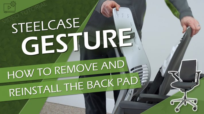Steelcase Gesture Back Pad Removal Thumbnail