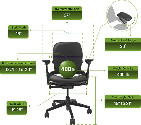 Steelcase V2 Leap Chair Dimensions 01