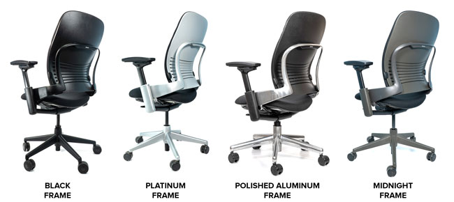 Steelcase V2 Leap Frame Colors Side by Side