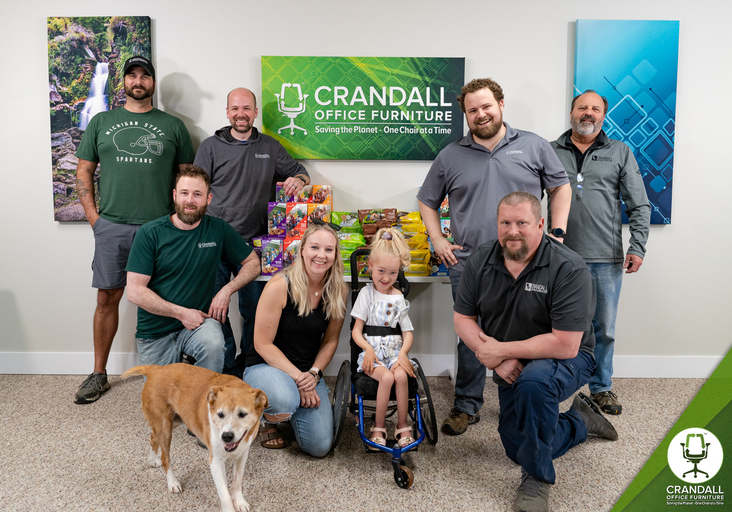 Crandall Office Furniture - Lylah Strong - Cure SMA Group Photo