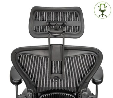 Atlas Suspension Headrest for Herman Miller Aeron Classic Chair - Back View