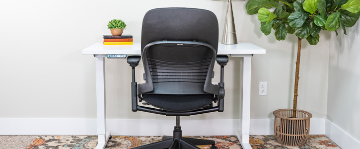 Remanufactured Steelcase V2 Leap Chair - Work From Home Office - Back View