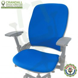 Steelcase V1 or V2 Leap Chair Upholstery + New Thicker Seat Pad by Crandall Office Furniture