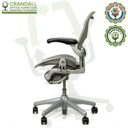 Crandall Office Refurbished Herman Miller Aeron Chair Smoke/Zinc - Size B - 0003