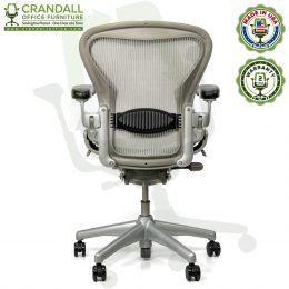 Crandall Office Refurbished Herman Miller Aeron Chair Smoke/Zinc - Size B - 0005