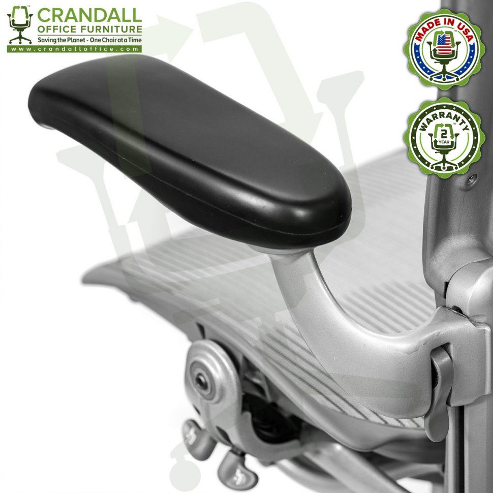 Crandall Office Refurbished Herman Miller Aeron Chair Smoke/Zinc - Size B - 0007