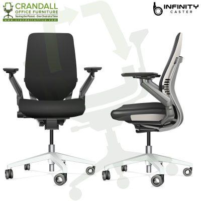 Crandall Office Furniture Infinity Hard Floor Self Braking Casters 0010